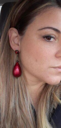 Orecchini Goccia Rosso Perla photo review