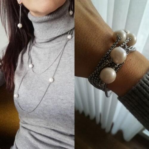 Collana Catena e Perle Naturali Bianche photo review